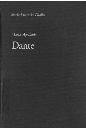 [3]: Dante : storia della Commedia / Mario Apollonio